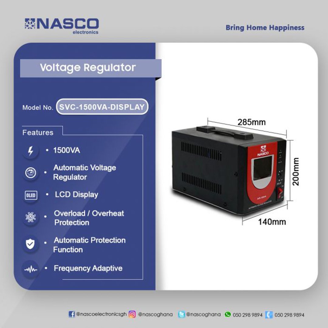 Nasco Voltage Regulator Lcd Display Ups Battery Backup